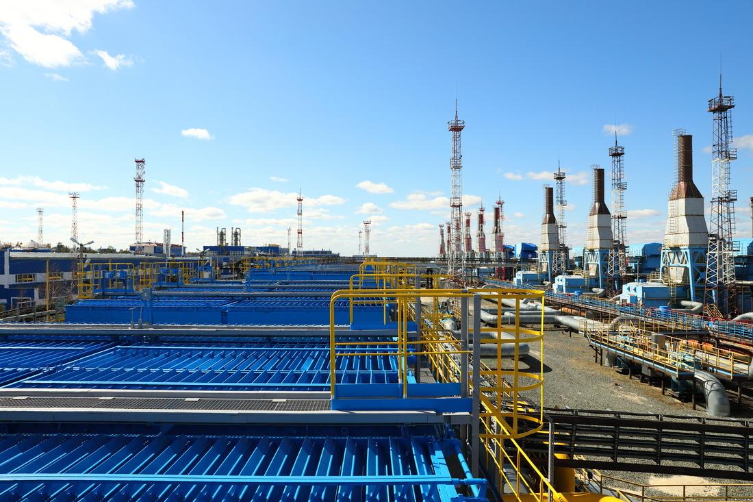 Дожимные мощности Губкинского газового промысла