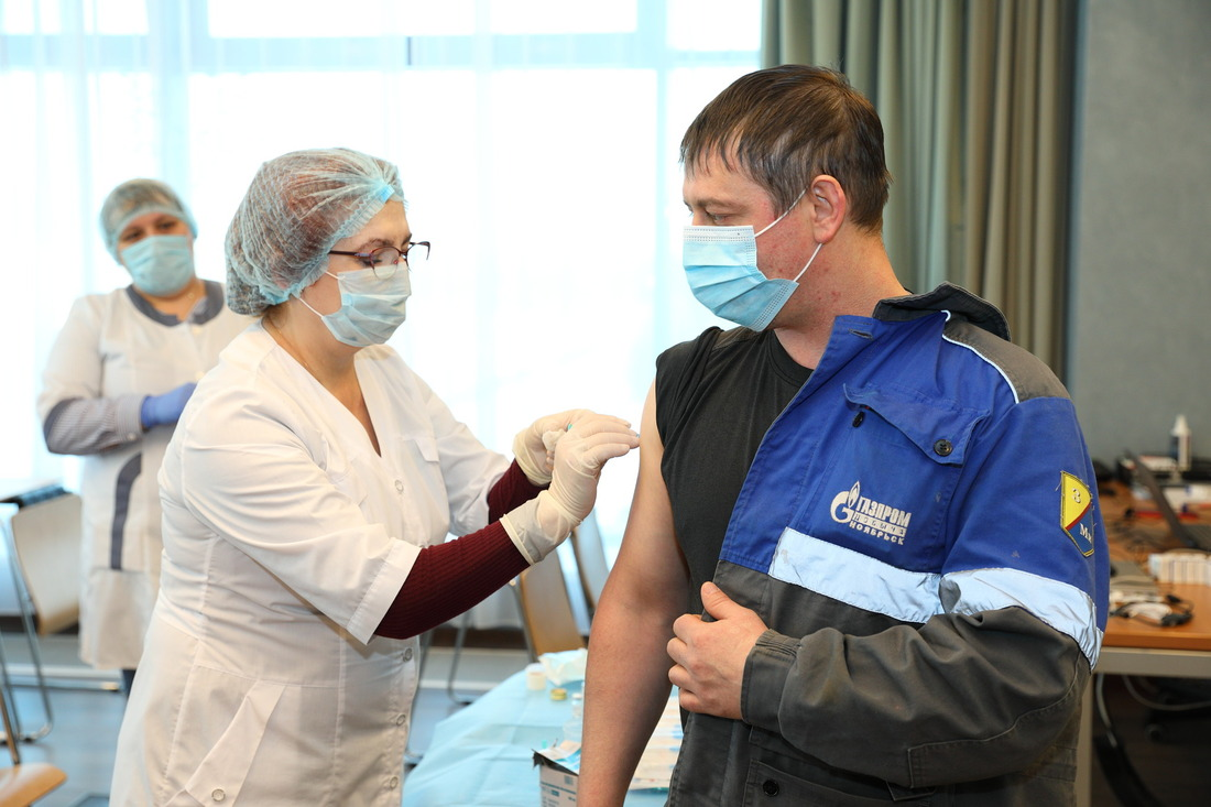 Сотрудники ООО«Газпром добыча Ноябрьск» делают выбор впользу вакцинации отCOVID-19, втом числе, чтобы заступить навахту без двухнедельной обсервации